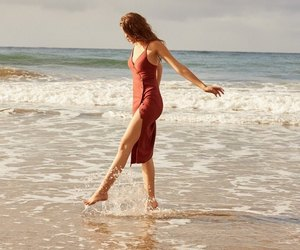 beach, dress, and fashion image