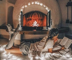 cozy, girl, and book image