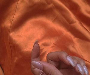 nails, fashion, and orange image