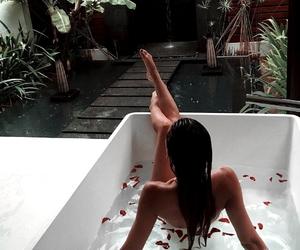 girl, summer, and bath image