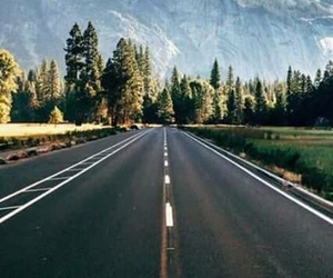 nature, road, and wallpaper image