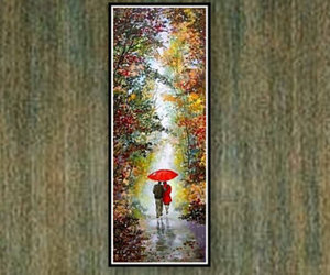 etsy, red umbrella, and fine art image