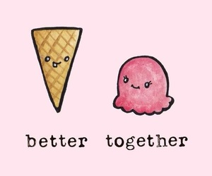 ice cream, wallpaper, and pink image