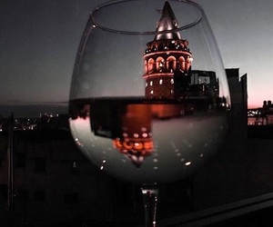 light, night, and wine image