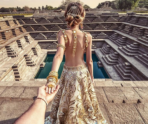 couple, travel, and india image
