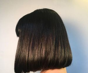 black, hair, and aesthetic image