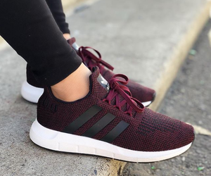 red, shoes, and adidas image