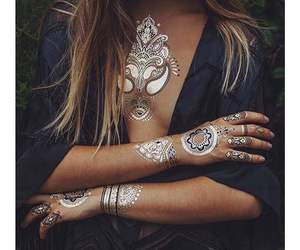 black, boho, and fashion image