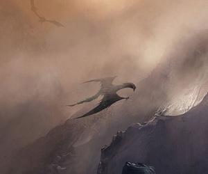 black, dragon, and drawing image