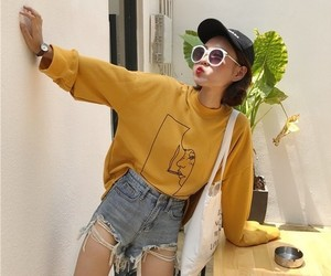 outfits, koreanfashion, and aestheticyellow image
