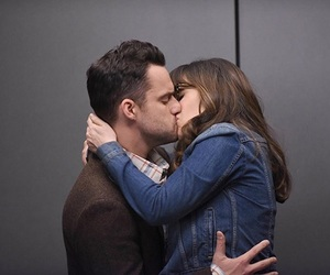 kiss, zooey deschanel, and new girl image