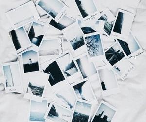 photo, polaroid, and blue image