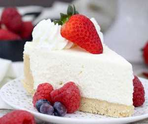 cheesecake, food, and sweets image