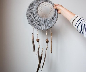 diy, dreamcatcher, and half moon image