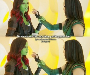 mantis, gamora, and guardians of the galazy image