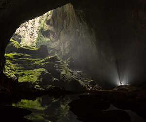 beautiful, cave, and dark image
