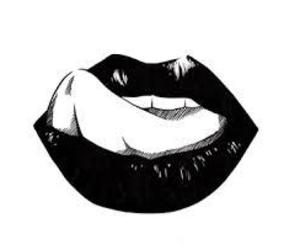 lips, black, and black and white image