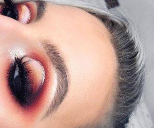 eyelashes, wow, and eyeliner image