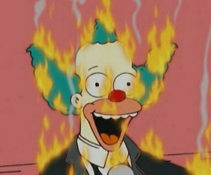 cartoon, the simpsons, and Krusty image