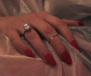 nails, aesthetic, and red image