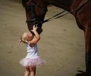 horse, kiss, and baby image