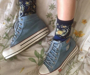 socks, shoes, and art image