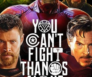 iron man, thor, and infinity war image