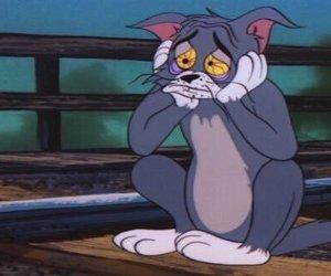 sad, Tom, and cartoon image