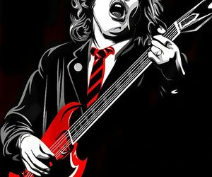 ACDC, angus young, and art image