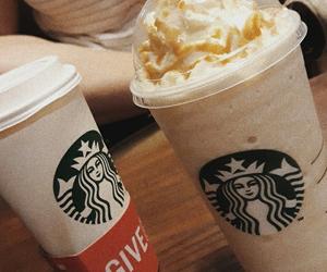 beige, coffee, and starbucks image