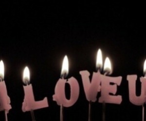 candle, love, and dark image
