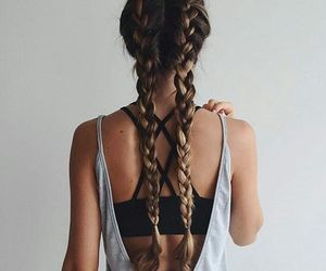 braid, hair, and hairdo image