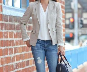 blazer, fashion, and jeans image