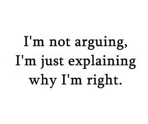 argue, quote, and Right image