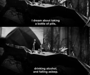 depression, pills, and alcohol image