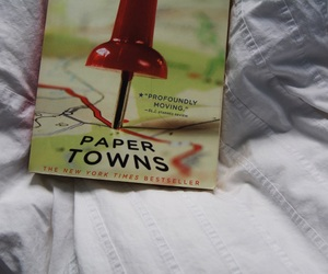 books, paper towns, and john green image