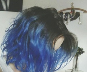 hair, cabello azul, and californianas azules image