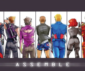 ass, captain america, and illustration image