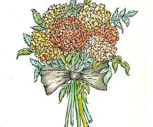 flower, illustration, and ink image
