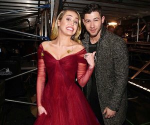 miley cyrus, nick jonas, and love image