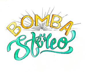 lettering, bomba estereo, and méxico image