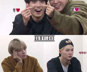 army, bts, and vkook image