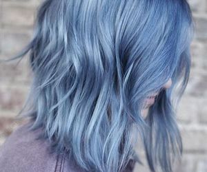 blue, light, and hair image