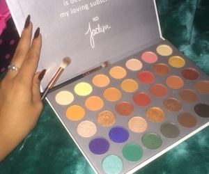 makeup, palette, and eyess image