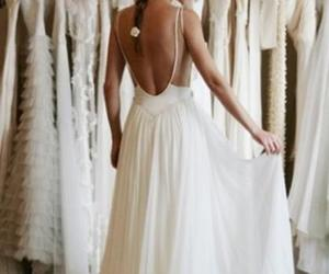 open back dress, lace wedding dress, and Sexy Bride image