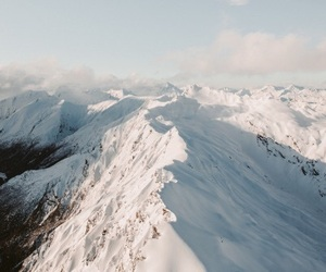 mountains, sight, and snow image