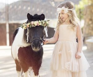 flower girl and wedding image
