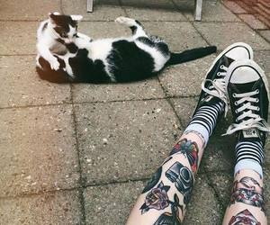 aesthetic, Tattoos, and cat image