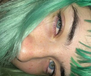 green, aesthetic, and eyes image