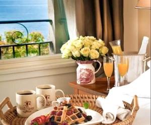 breakfast, foodie, and ocean views image